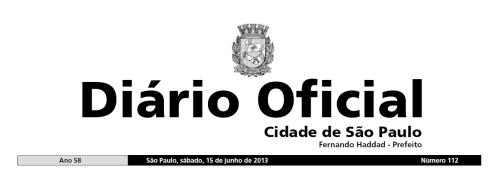 diário oficial sp 15 06 13